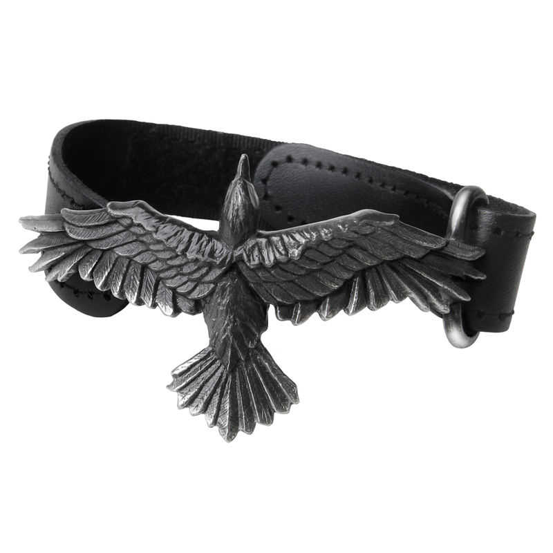 Alchemy Gothic Black Consort - Leather Bracelet