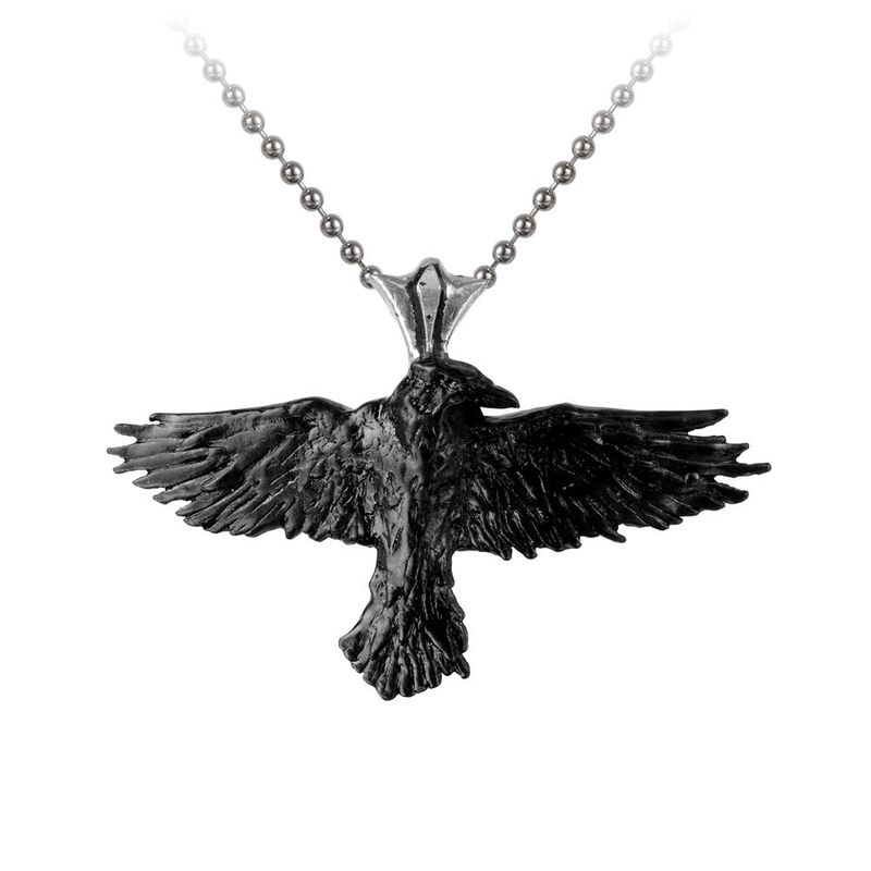 Alchemy Gothic Black Raven - Necklace