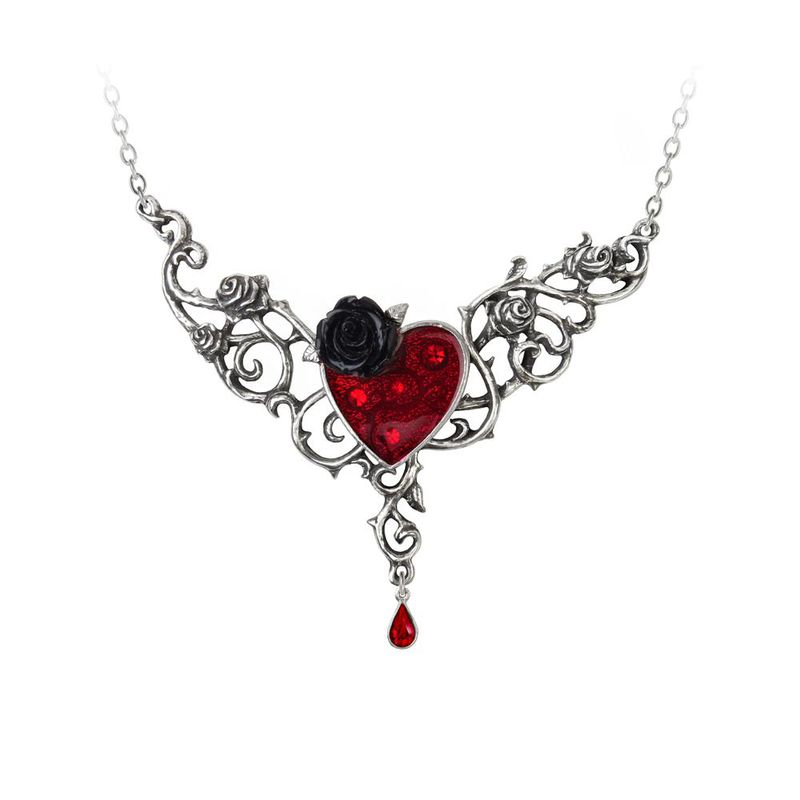 Alchemy Gothic The Blood Rose Heart - Necklace