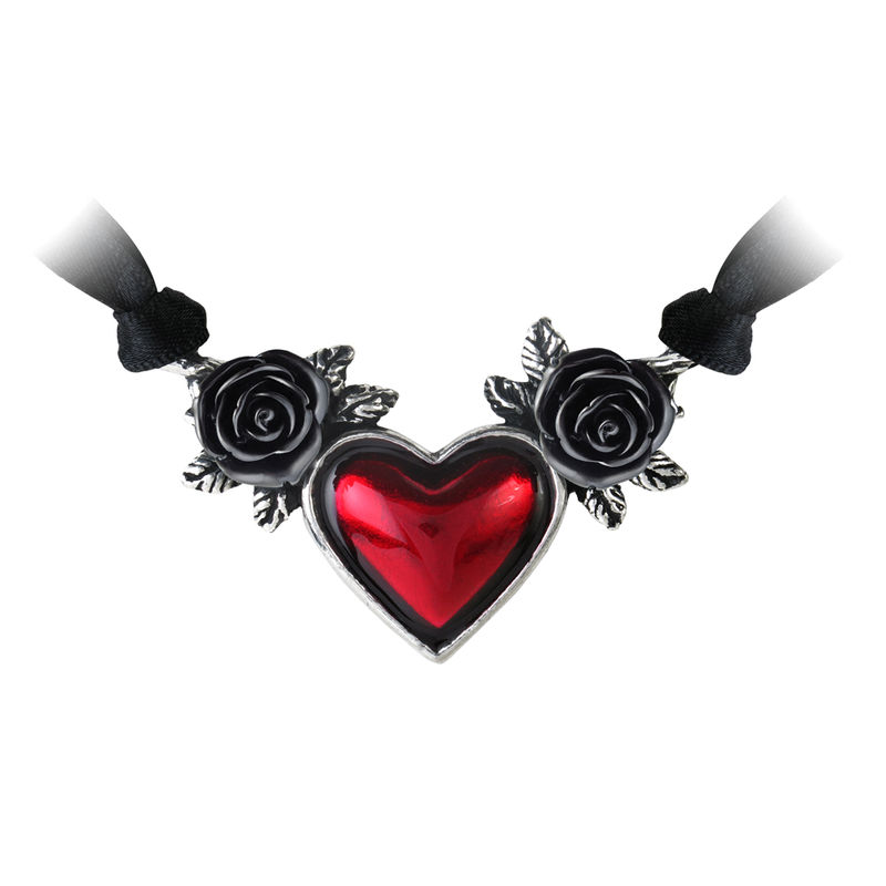 Alchemy Gothic Bloodheart Rose - Necklace