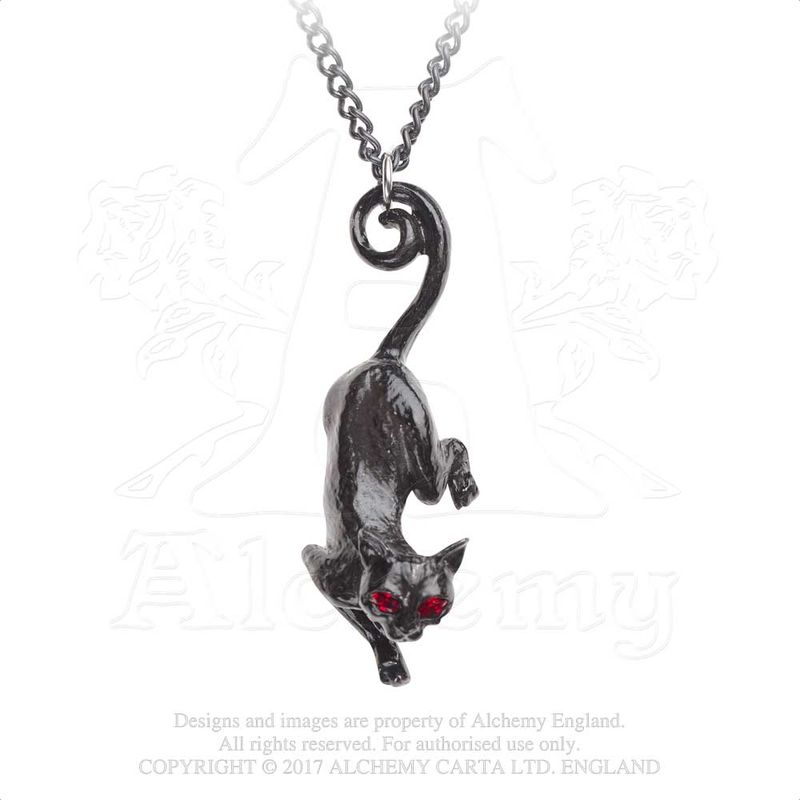 Alchemy Gothic Cat Sith - Necklace