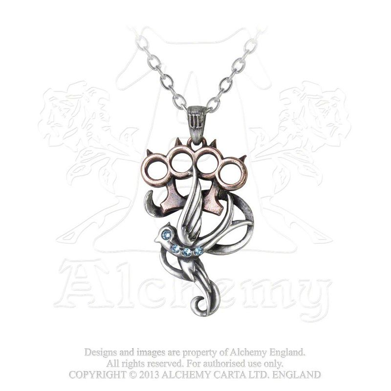 Alchemy Gothic Swallow Duster - Necklace
