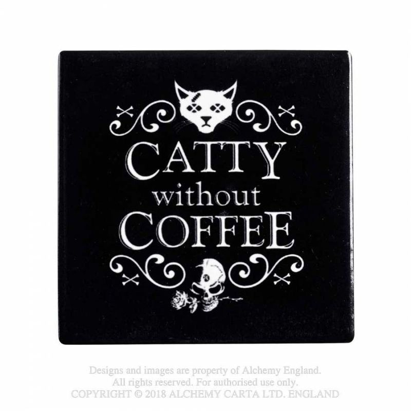 Alchemy Catty Without Coffee - Coaster