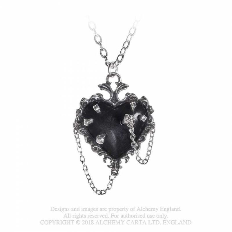 Alchemy Gothic Witch Heart - Necklace